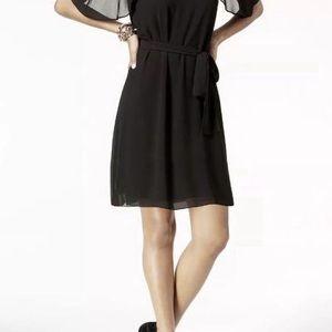 Michael Kors Flutter Sleeve Cold Shoulder Dress